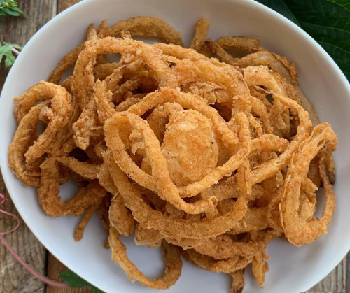crispy onion string